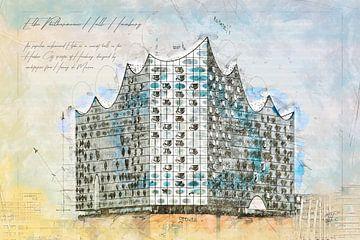 Elbphilharmonie Concertzaal, Hamburg van Theodor Decker