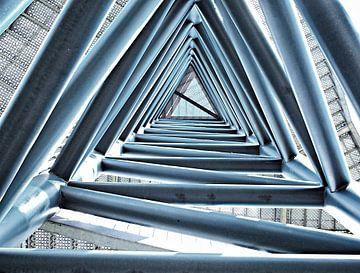 Uitkijktoren van binnenuit. van PictureWork - Digital artist