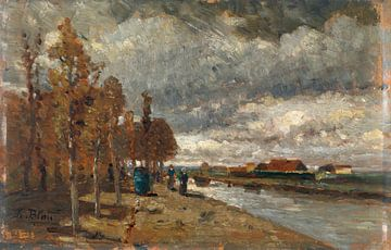 Kanal in Holland, Tina Blau
