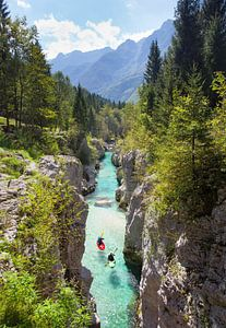 Kayak Soca Rivier Bovec Slovenië van