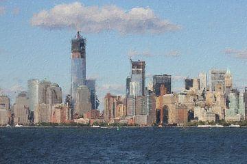 New York Skyline van Digitale Schilderijen