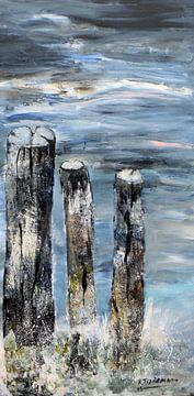 Poteaux de plage sur Rita Tielemans