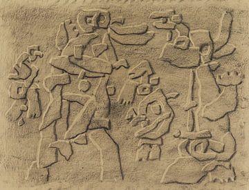 WILLI BAUMEISTER, Glänzendes Relief, 1952-1953