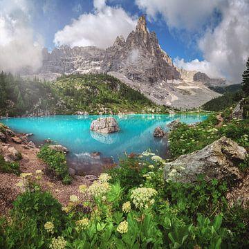 Dolomiten Sorapissee im Sommer von Jean Claude Castor