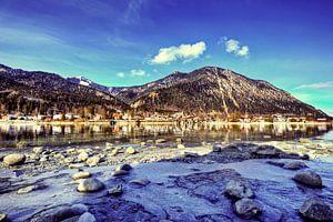 Gefrorenes Ufer Walchensee