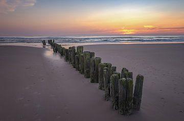 Zonsondergang aan het strand sur Martin Bredewold