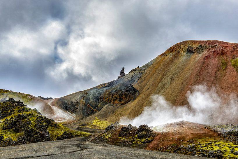 Vulkanisch IJsland van Sjoerd van der Wal