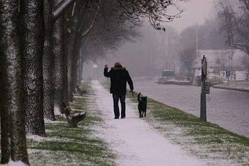 Winterwandeling met de hond von Christiaan Klompstra