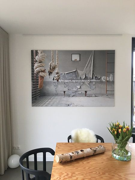 Klantfoto: verlaten turnzaal van Kristof Ven, op canvas