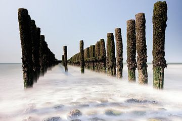 Zeegezicht vanaf het strand van Eddy Westdijk