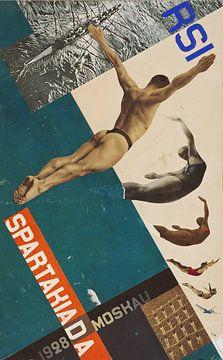 Schwalben beim Tauchen, Entwurf für Postkarte, 1928