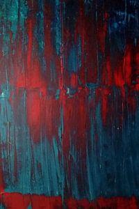 peinture rouge sur marie jans