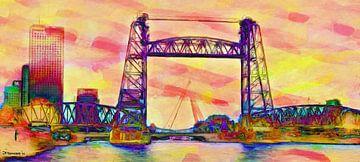 Drie bruggen vibrant sur Frans Jonker