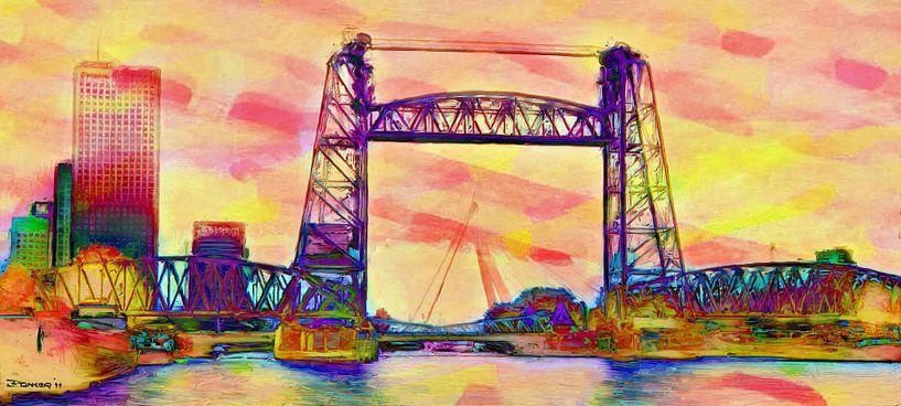 Drie bruggen vibrant van Frans Jonker