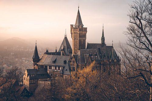 Mystisches Schloss Wernigerode im Nebel