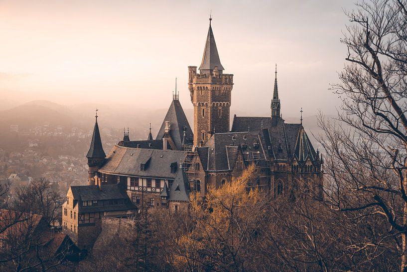 Mystisches Schloss Wernigerode im Nebel von Oliver Henze