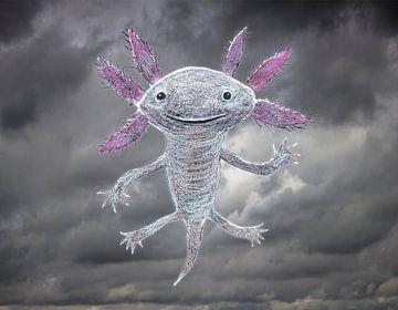De god van de axolotl van Bianca Wisseloo