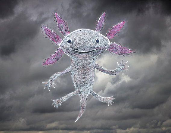 De god van de axolotl