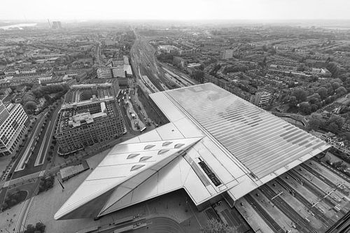 Het futuristische Centraal Station van Rotterdam van MS Fotografie