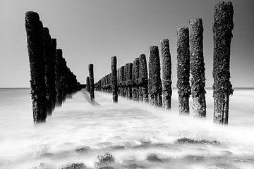 Meerblick vom Strand aus von Eddy Westdijk