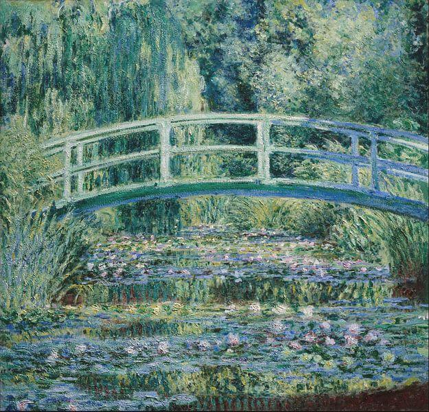Japanische Brücke Im Garten Von Giverny Claude Monet Poster