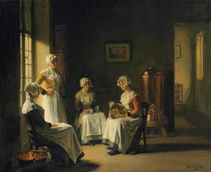 Women Polishing Brass van Antonije Lazovic