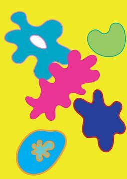 Kleurrijke en vrolijke grafische illustratie van Francisca Snel