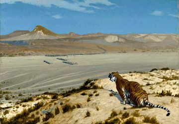 Tiger auf der Uhr, Jean-Léon Gérôme