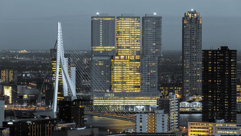 Kop van Zuid skyline van Prachtig Rotterdam