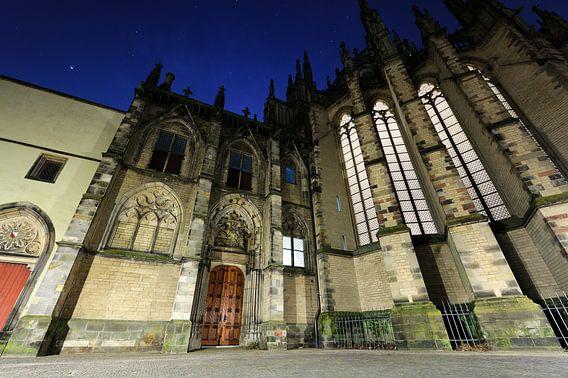 De achterzijde van de Domkerk in Utrecht