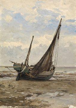Carlos de Haes-Zeeboat, Meereslandschaft, Antike Landschaft