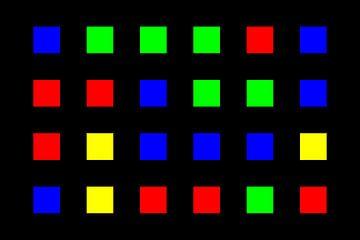 Nested | Center | 06x04 | N=01 | Random #05 | RGBY van Gerhard Haberern