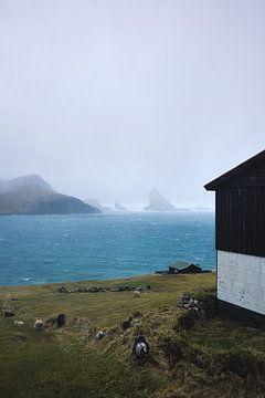Vissershuisje op de Faeröer van Moniek Kuipers