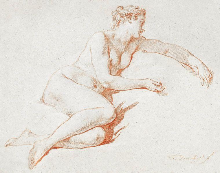 Liegender weiblicher Akt, François Boucher (1750 - 1760) von Atelier Liesjes