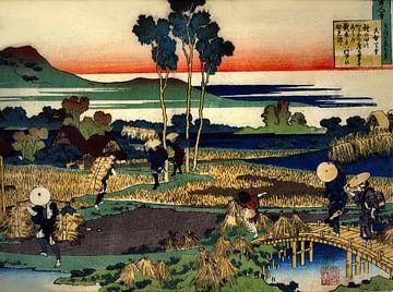 Uit de gedichten van honderd door Katsushika Hokusai.
