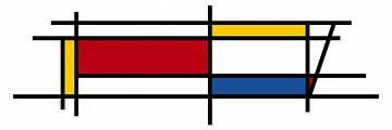 Piet Mondriaan Art 3 van Marion Tenbergen