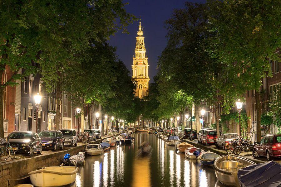 Zuiderkerk Amsterdam vanaf de Groenburgwal van Dennis van de Water