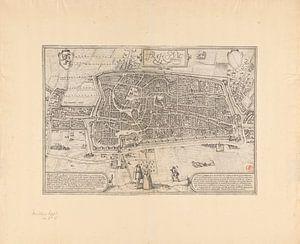 Plattegrond van de stad Utrecht, Frans Hogenberg, 1572