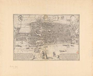 Karte der Stadt Utrecht, Frans Hogenberg, 1572