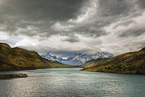 Meer in Patagonie, Chili.