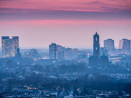Zonsondergang Skyline Utrecht