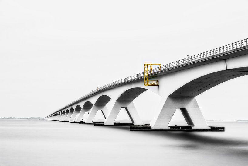 Zeelandbrug-01, Pont sur l'estuaire de Oosterschelde sur Frans Lemmens