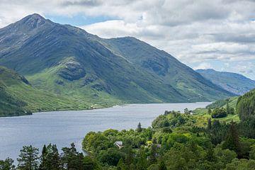 Grüne Berge am Loch Shiel in Schottland