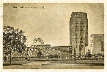 Oude ansichten: Rotterdam Blaak van Frans Blok