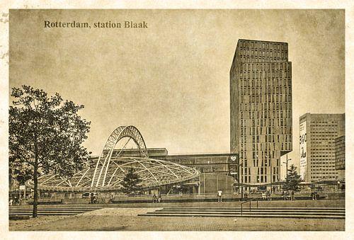 Carte postale d'époque: Gare Rotterdam Blaak