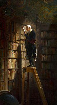 Carl Spitzweg, Der Bücherwurm - 1850 von Atelier Liesjes
