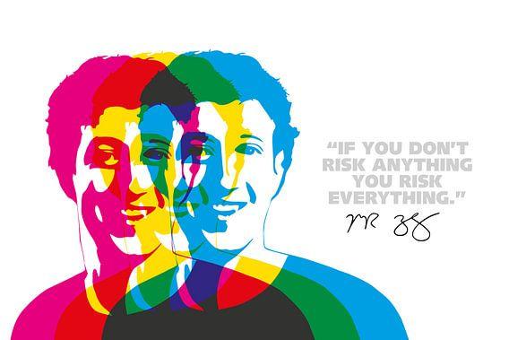 Mark Zuckerberg Quote van Harry Hadders