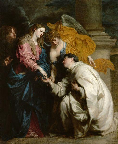 Die Vision des seligen Hermann Joseph, Antoon van Dyck von Meesterlijcke Meesters