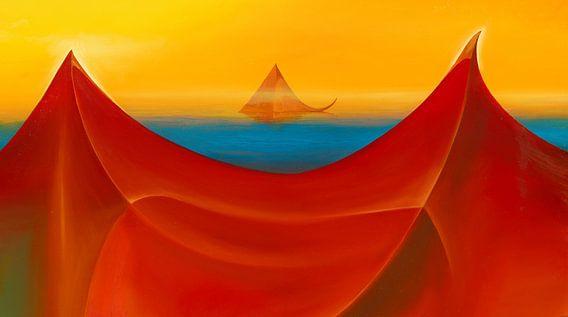 Schwimmende Pyramide van Silvian Sternhagel