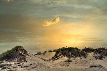 Sonnenuntergang Slufter Texel von Watze D. de Haan